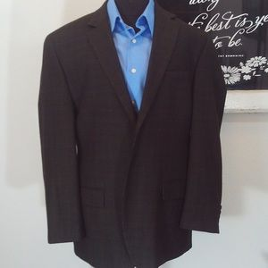 Bill Blass Essentials Houndstooth Blazer Size 44R